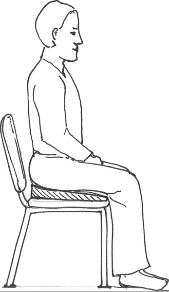 Person Sitting Down Drawing Sketch Coloring Page